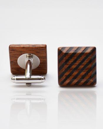 Drevené manžetové gombíky elegance - mahagón šrafy