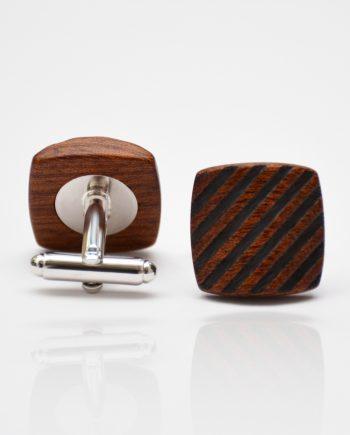 Drevené manžetové gombíky balance - mahagón šrafy