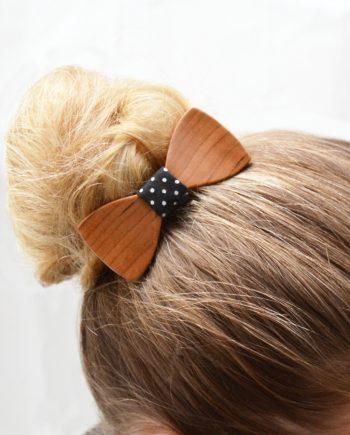 Drevený motýlik do vlasov - americká čerešňa