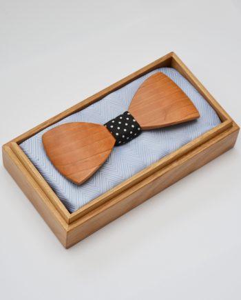 Drevený motýlik tvarovaný special - americká čerešňa