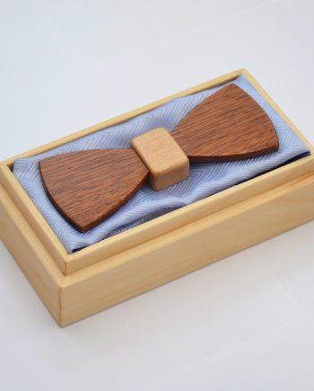 Drevený motýlik plochý special – mahagón/javor