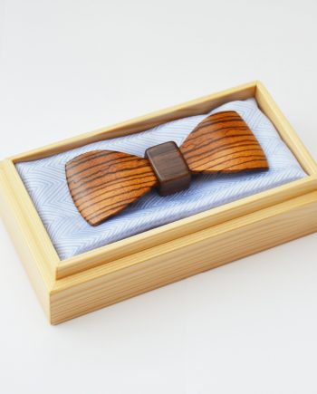 Drevený motýlik tvarovaný special - zebrano
