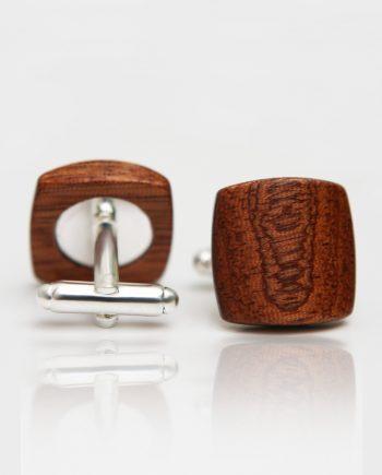 Drevené manžetové gombíky balance - mahagón