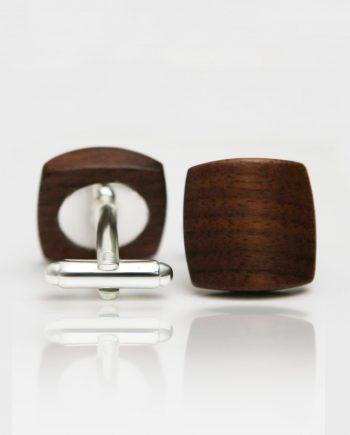Drevené manžetové gombíky balance - orech