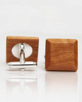 Drevené manžetové gombíky elegance - čerešňa