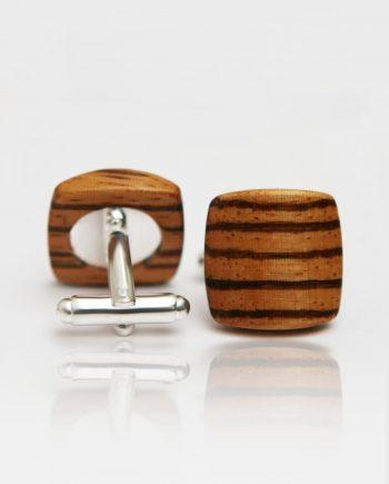 Drevené manžetové gombíky balance - zebrano