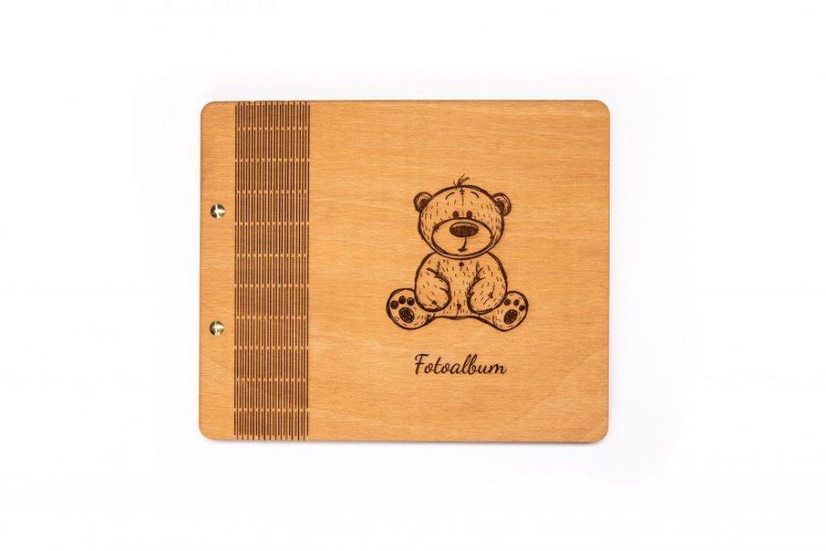Drevený fotoalbum - Teddy