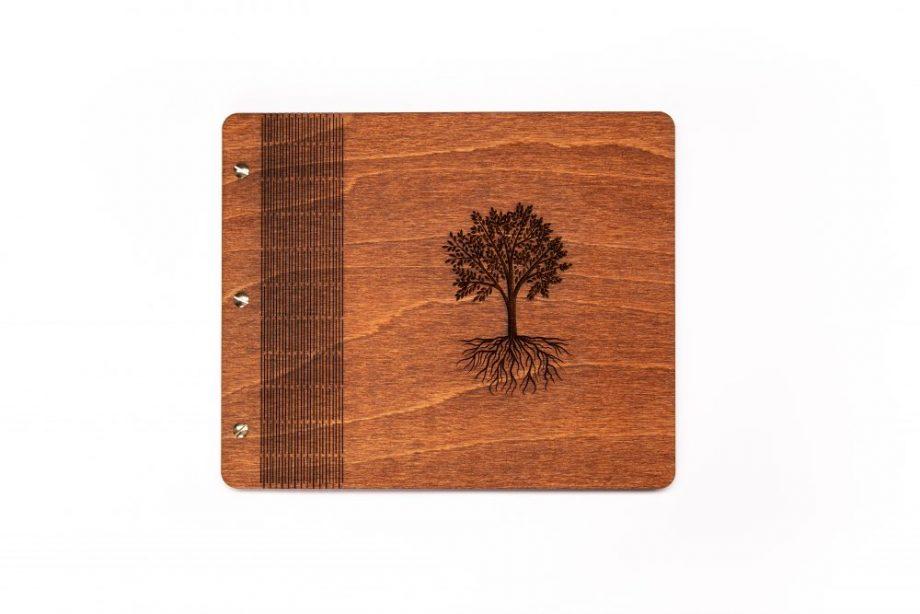 Drevený fotoalbum - Tree