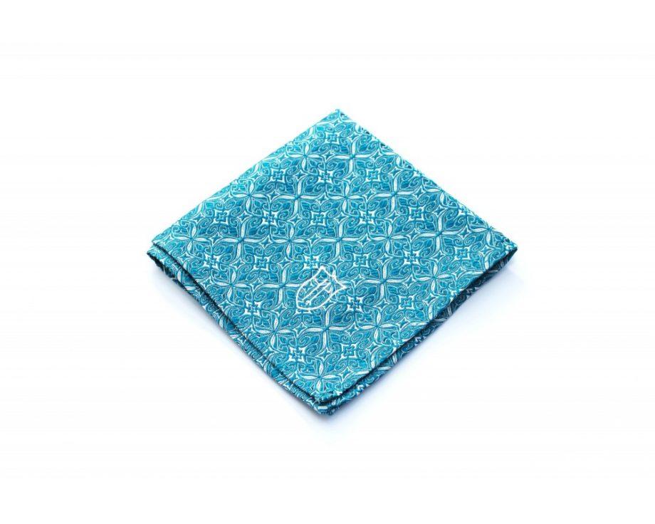 Látková vreckovka do saka - brokátová aquamarine