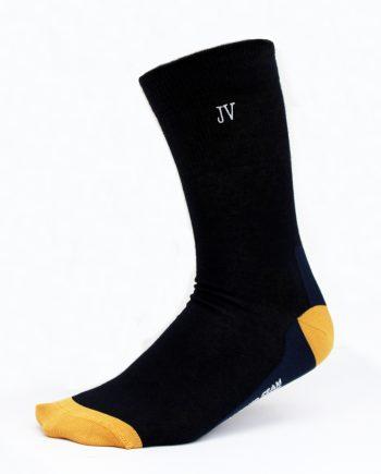 Ponožky s monogramom tmavomodré