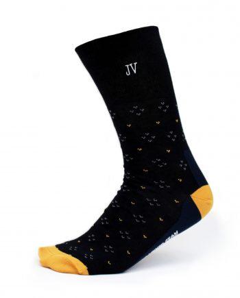 Ponožky s monogramom tmavomodré so šípkami