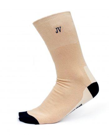 Ponožky s monogramom béžové