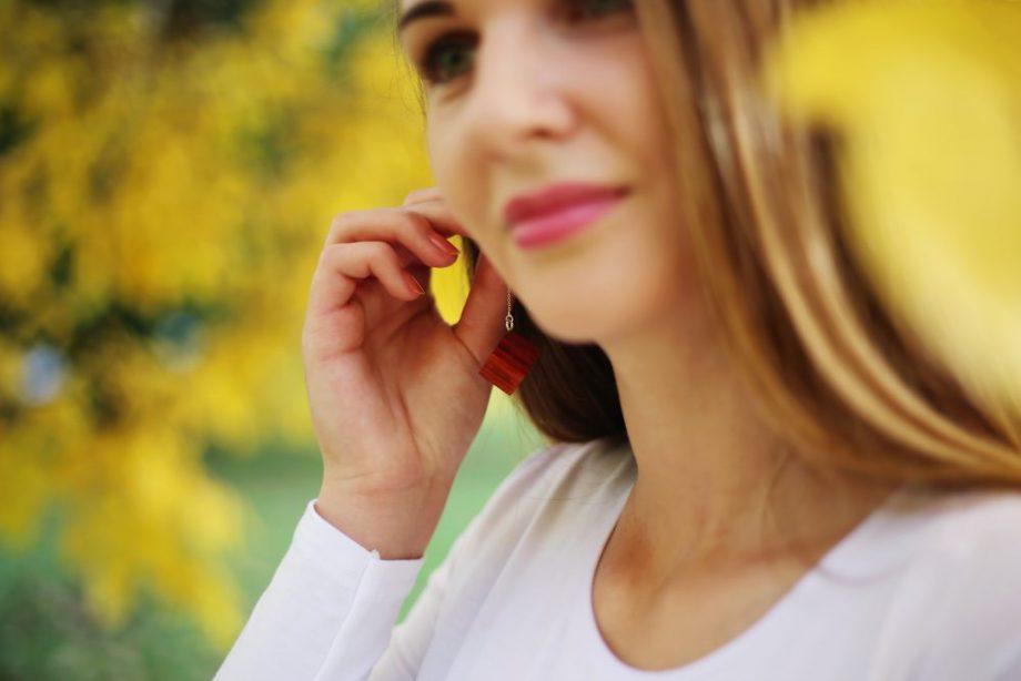 Drevené náušnice - Padouk