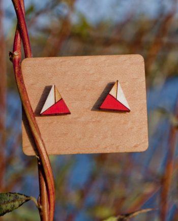 Drevené náušnice - Triangle