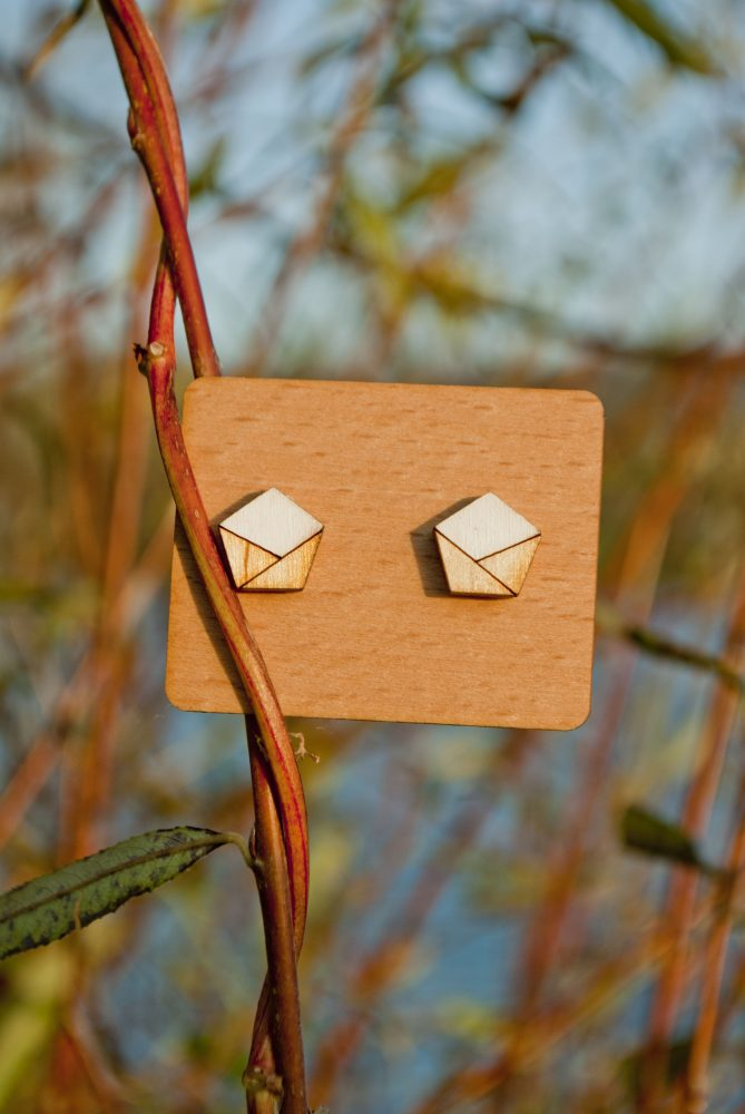 Drevené náušnice - Envelopes