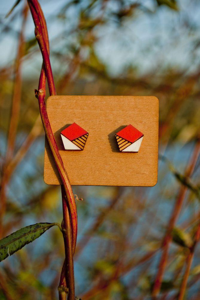 Drevené náušnice - Envelopes Minimal