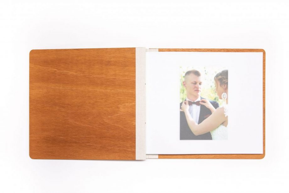 Drevený fotoalbum - Leaf