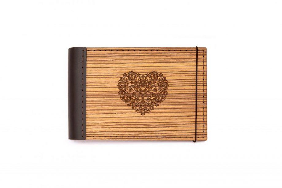 Luxsný drevený fotoalbum - zebrano mini