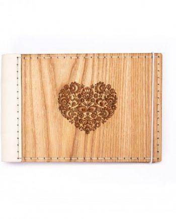 Luxsný drevený fotoalbum - dub mini