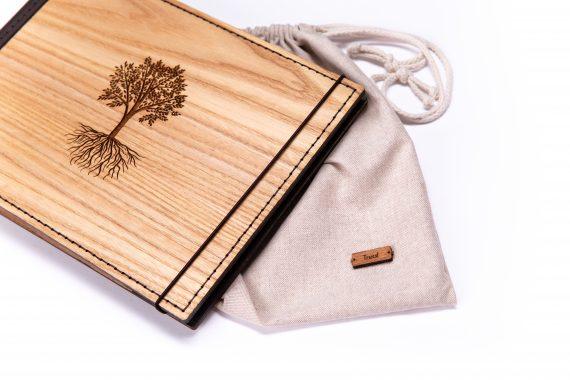 Luxusný drevený fotoalbum - Dub