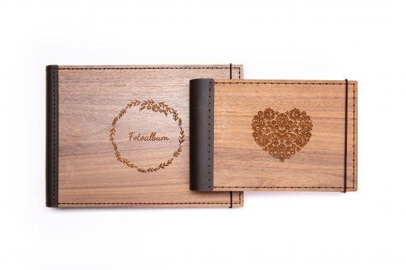 Luxusný drevený fotoalbum - Orech