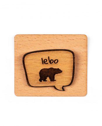 Drevený odznak - Lebo medveď