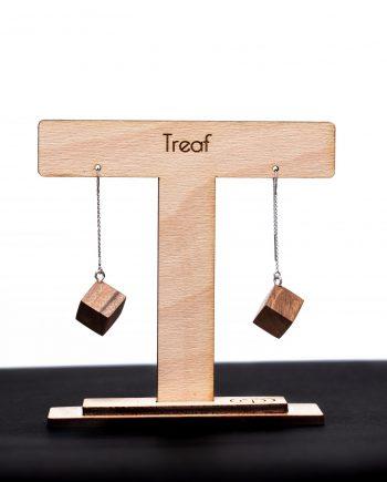 Drevené náušnice - Orech
