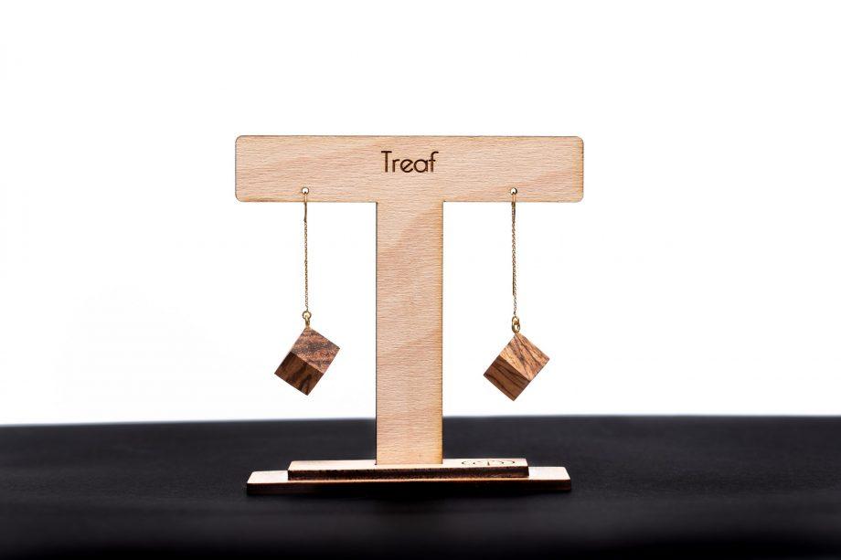 Drevené náušnice - Zebrano
