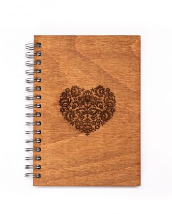Drevený zošit - Heart