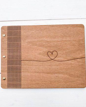 Drevený fotoalbum - Heart Mini